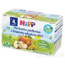 Hipp, herbatka jabłkowa z koprem włoskim BIO, 1,5 g, 20 saszetek
