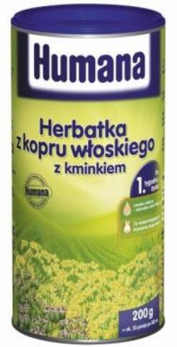 Humana Herbatka z kopru włoskiego z kminkiem, 200 g