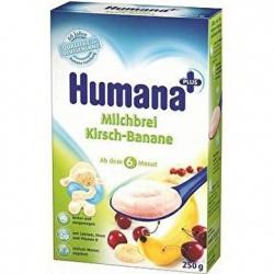 Humana kaszka mleczno-ryżowa z wiśniami i bananami