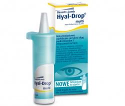 Hyal Drop Multi, krople, do oczu i soczewek, nawilżające, 10 ml