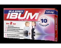 IBUM Dla Dzieci, czopki, 125 mg