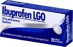 Ibuprofen LGO, 200 mg, tabletki powlekane, 10 szt