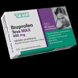 Ibuprofen Teva Max 400mg 20 tabletek1