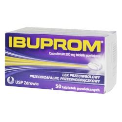 Ibuprom, tabletki powlekane, 200 mg, 50 szt