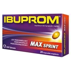 Ibuprom Max Sprint, 400 mg, kapsułki miękkie, 20 szt