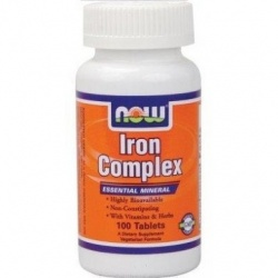 NOW - Iron Complex - 100 tabl