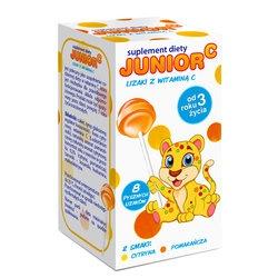 Junior C, lizaki z witaminą C, 8szt