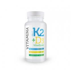 K2 + D3 Vitalgold, 60 tabletek