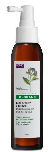 Klorane Cure de Force, kuracja wzmacniająca, przeciw wypadaniu włosów, Chininowo-Kofeinowy, 125 ml