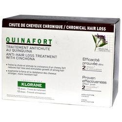 Klorane Quinafort, kuracja przeciw wypadaniu włosów dla mężczyzn, 5 ml x 12 szt