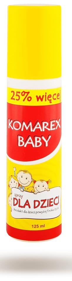 KOMAREX BABY Spray odstraszający komary i kleszcze 125ml
