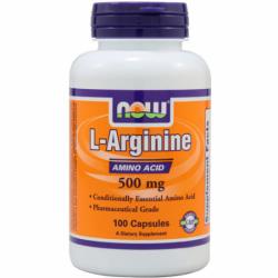NOW - L-Arginine 500 mg - 100 kaps