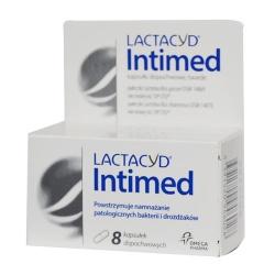 Lactacyd Intimed, kapsułki dopochwowe, twarde, 8 szt