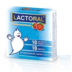 Lactoral, proszek, (bez mleka, laktozy, glutenu), smak truskawkowy, 10 saszetek