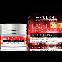 Eveline Laser Precision 60+ krem - koncentrat modelujący owal twarzy na dzień i na noc 50 ml