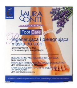 Laura Conti Foot Care, maska do stóp na noc, 50ml + skarpetki