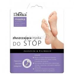L'Biotica Złuszczająca Maska do Stóp Nasączone Skarpetki 1 para
