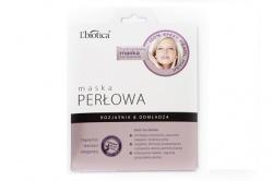 L'Biotica Maska Hydrożelowa Perłowa na tkaninie, 25g