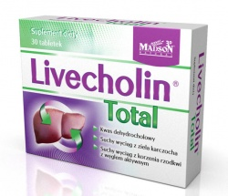 LIVECHOLIN TOTAL, 30 tabletek