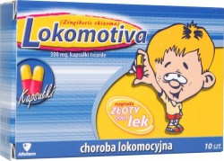Lokomotiva, kapsułki (kłącze imbiru), 300 mg, 10 szt