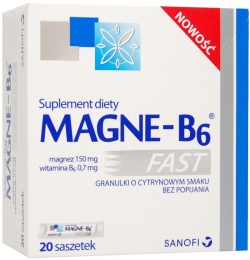 Magne-B6 Fast, saszetki, 10 sztuk