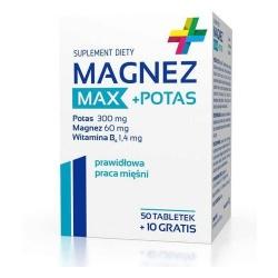 Magnez Max+Potas, 50+10 tabletek