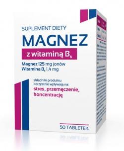 Magnez z witaminą B6, 50 tabletek