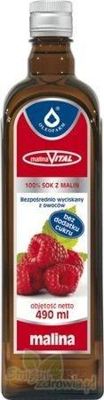 MalinaVital, sok z malin 100%, 490ml