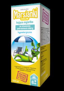 Marsjanki Solar, kojąca mgiełka na słoneczne podrażnienia skóry, 100 ml