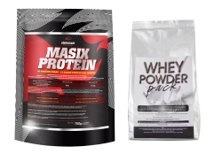 ALPHA MALE - MASIX PROTEIN + Whey Powder PACK - 750g + 500g