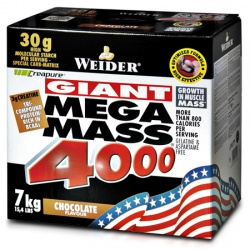 WEIDER - Mega Mass 4000 - 7kg - Czekolada