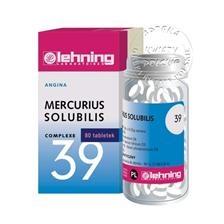 Mercurius Solubilis Nr 39, 80 tabletek