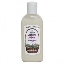 Mleczko ziołowe nawilżająco-oczyszczające do demakijażu (Lukrecja i Szałwia) 200 ml