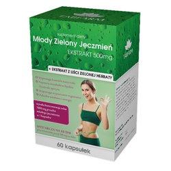 Młody Zielony Jęczmień Ekstrakt, 500 mg, kapsułki, 60 szt