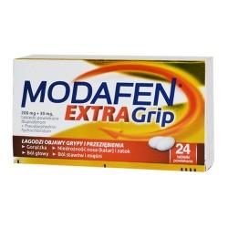 Modafen Extra Grip, 200 mg + 30 mg, tabletki powlekane, 24 szt