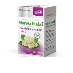 MORWA BIAŁA, 200 tabletek MADSON