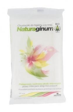 Naturaginum Biointima, chusteczki do higieny intymnej, 20 szt