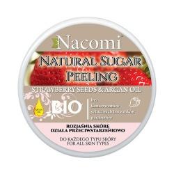 Nacomi - peeling cukrowy - nasiona truskawki i olej arganowy