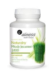 Aliness Naturalny Młody Jęczmień 1800, 120 tabletek