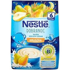 Nestle Dobranoc kaszka mleczno-ryżowa gruszka 230g