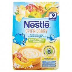 Nestle Dzień dobry kaszka mleczno-ryżowo-kukurydziana banan jabłko morela 230g