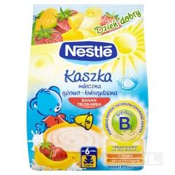 Nestle Dzień dobry kaszka mleczno-ryżowo-kukurydziana banan truskawka 230g