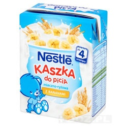 Nestle, kaszka do picia, mleczno-ryżowa, banan, 200 ml