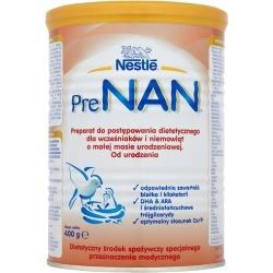 Nestle PreNan preparat do postępowania dietetycznego dla wcześniaków i niemowląt od urodzenia 400g