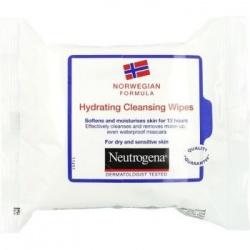Neutrogena Formuła Norweska, chusteczki nawilżające do twarzy, 25 szt