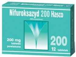 Nifuroksazyd Hasco 200, 200 mg, tabletki powlekane, 12 szt
