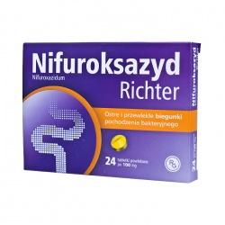 Nifuroksazyd Richter 100mg, tabletki 24szt
