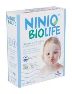 Ninio BIOlife, krochmal do kąpieli dla niemowląt i dzieci, 30g, 5 saszetek