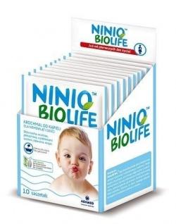 Ninio BIOlife, krochmal do kąpieli dla niemowląt i dzieci, 30g, 10 saszetek