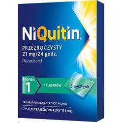 Niquitin, 21 mg24 h, system transdermalny 114 mg, stopień 1, plastry, 7 szt